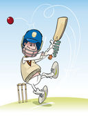Cricketing Batsman — Stock Vector