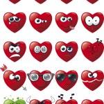 Cartoon Heart Icon Set — Stock Vector #25450713
