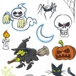Halloween Cartoon Collection - Stock Vector