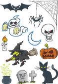 Halloween Cartoon Collection — Stock Vector