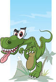 Dinosaur Stomp — Stock Vector