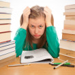 Bored of studying — Stock Photo