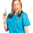 Crazy doctor — Stock Photo #26478553