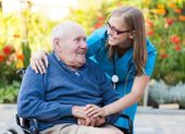 Helping an old man — Stock Photo