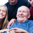 Happy grandfather — Stock Photo