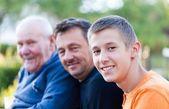 Gerações masculinas — Fotografia Stock