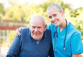 Kind doctor with patient — Stock Photo