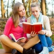Beautiful women reading — Stock Photo
