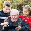 Modern grandfather — Stock Photo