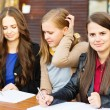 Students learning together — Stock Photo