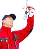 電気技師の作業 — ストック写真