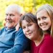 Grandfather with Alzheimer's Disease — Stock Photo