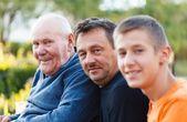 Three Generations Portrait — Stock Photo