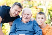 Male Family Members — Stock Photo