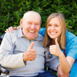 Great Mood at the Nursing Home — Stock Photo