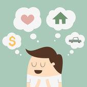 Marzenia — Wektor stockowy