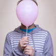 Guy with head - balloon - Stock Photo