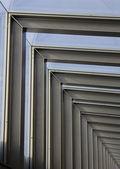 Constructiestaal kader op nieuwe industriële eenheid — Stockfoto
