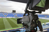 Tv presso il calcio. — Foto Stock
