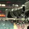 Stock Photo: TV camera, TV broadcast hockey