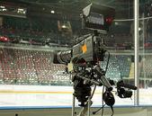 TV camera, TV broadcast hockey — Foto Stock