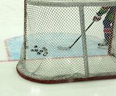 Hockey goals — Stock Photo