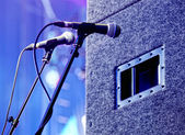 Microphone on the stage — Stock Photo