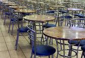 An empty cafeteria interior shot. — Stock Photo