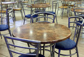 An empty cafeteria interior shot. — Stock Photo