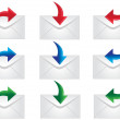 Mail icons to be used on web — Stock Vector
