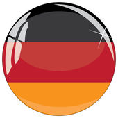 Glass button with national flag of Germany — Stock Vector