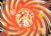 Disco ball abstract illustrtion — Stock Vector