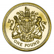 Stock Photo: Mint British Gold Pound Coin with Clipping Path