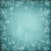 Blue Abstract Christmas Winter Background with Snowflakes and St — Stock Photo