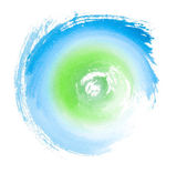 Blue Green Painted Swirl Eco Concept Symbol — Stock Photo