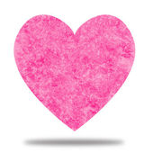 Pink Heart with Watercolor Texture — Stock Photo