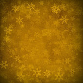 Gold Snowflakes Abstract Christmas Parchment Background — Stock Photo