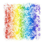 Abstract Watercolor Textured Rainbow Frame — Stock Photo