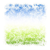Abstract Watercolor Sky and Grass Square Textured Frame — Stock Photo