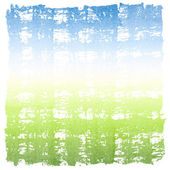 Abstract Watercolor Sky and Grass Square Crosshatched Frame — Stock Photo