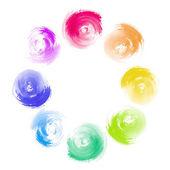 Abstract Rainbow Paint Swirl Diversity Concept — Stock Photo