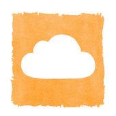 Social Media Cloud Painted Orange Box Frame — Stock Photo