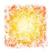 Sunburst Watercolor Patchy Textured Square Frame Border — Stock Photo
