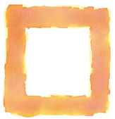 Orange Yellow Watercolor Square Frame Border — Stok fotoğraf