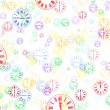 Multi-Colored Clocks Abstract Background — Stock Photo #43031601