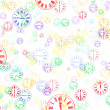 Multi-Colored Clocks Abstract Background — Stock Photo
