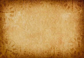 Vintage Grunge Parchment Background with Clock Faces Landscape — Stock Photo