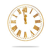 Abstract Vintage Grunge Clock — Stock Photo