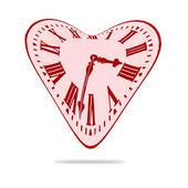 Soyut aşk kalp zaman saati bozuk — Stok fotoğraf