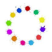 Diversity Concept - Multi-Colored Paint Spots Circle — Stock Photo
